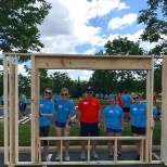 Annual Habitat for Humanity build at headquarters