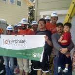 Enphase Volunteers bring renewable energy to Montes family!