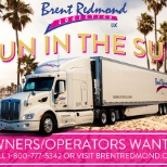 Have Fun in the Sun as an Owner-Operator for Brent Redmond Logistics!