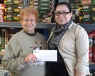Elkhorn's Branch Manger giving their 2013 Donation to Elkhorn Food Pantry