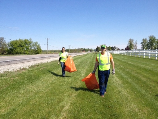 Associates participating in the Adopt-a-Highway program, spring 2012