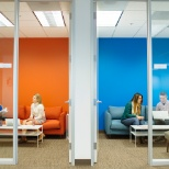 Meeting space in Shutterfly's Santa Clara office.