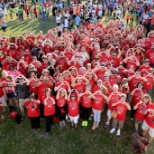American Heart Association photo: The National Center team representing HeartWalk in September 2015