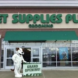 Pet Supplies Plus photo: Patches mascot at a new store opening