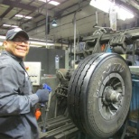 McCarthy Tire Service employee at our retread plant
