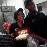 A co workers birthday at taco bell