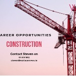 NOW HIRING CONSTRUCTION 