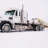 Myles Teller, a heavy haul Driver from New Mexico working up in the Utah snow.