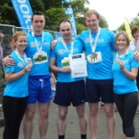 Here's our team of runners at the Athlone Flatline Marathon, sponsored by Matrix Recruitment Group