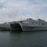 USNS Trenton (T-EPF 5) and USNS Brunswick (T-EPF 6) docked at Little Creek Naval Base - Virginia