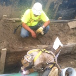 under ground pipe
