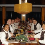 Specialty restaurant in the cruiship