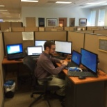 Integrity Staffing Solutions photo: IT department in full force setting up some new equipment!