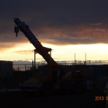 Dawn on the jobsite