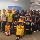 Corporate employees cheering on the Preds in their quest for the Stanley Cup!