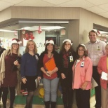 Hendersonville Medical Center photo: The judges of the Christmas Tree decorating contest