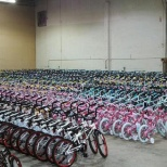 1600 bikes built in 3 days for major customer for a charity event.