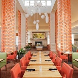 Our onsite Garden Grille Restaurant and Lounge serving Breakfast and Dinner Daily