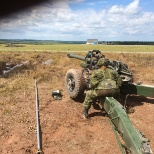 Myself getting trained on the LG1 Howitzer over the summer of 2016.