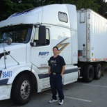 First stop at new home.  Dad taking my photo in my 1st truck. 2008