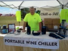 Helping at the wine festable