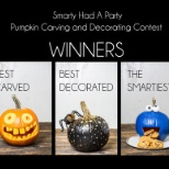 Smarty Had A Party photo: Winning Pumpkins from our carving contest.