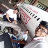 photo of Air India, Engine change CFM 75B of Boeing 737-800 Aircraft at Air India mumbai with my trainee friends