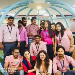 Pink day celebration at office