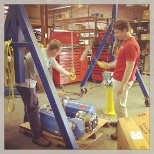 Sales Trainee doing some hands-on learning at our Richmond Frischkorn industrial location.