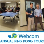 WEBCOM photo: Winners of the 2016 Annual Ping Pong Tournament.