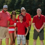 Team Olsen Real Estate Group playing Golf Tournament with the whole Keller Williams Realty Office.