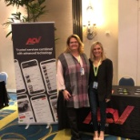 ACV's Jennifer Linder and Jill Ball getting ready for their Key Note Panel Session at Women in Auto