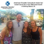 Erika B., an American Traveler Consultant, met her traveler for the first time