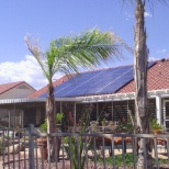 Solar panel installation system finished.