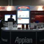 Our brand new booth design featured at the Gartner BPM Summit in April 2013.