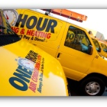 One Hour Heating & Air Conditioning photo: Company fleet