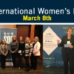 Employees celebrating International Women's Day!