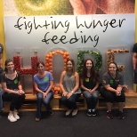 We sorted 14,000 lbs of food at Second Harvest Food Bank of Central Florida to fight hunger.