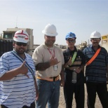 IRAQI WORKERS WITH MR. STEAVE VALEFAI THE MANAGER AT KBR IN IRAQ