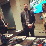 Colliers International photo: Hanging at the marketing booth at #ColliersDisrupt 