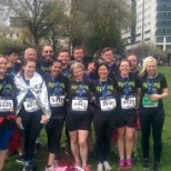 Spring staff run 10K for charity.