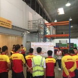 DHL photo: A daily performance dialogue with our team members for high team performance.
