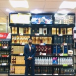 Dufry Duty Free DIAGEO Wall bay