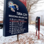 Tuba City Regional Health Care Corp entry sign