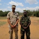 U.S. Navy photo: Me and a Rwanda National Army student that I was Teaching