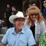 "Cast from  A&E TV series ""Longmire"". -Robt. Taylor, Cassidy freeman with Gina McGee"