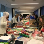 Fairstone photo: This is the season of giving! Kicking off the holidays with a wrapping party!
