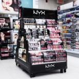 IVC engineered and manufactured this versatile lit NYX Bergerie Display.