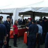 Lunch on the flight deck with a live band to build relations with PI.