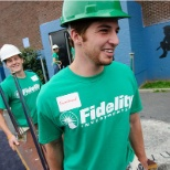 Two interns participating in a Fidelity Cares Transformation Day.